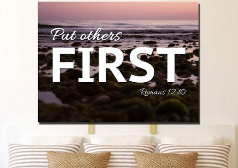put others first christian art
