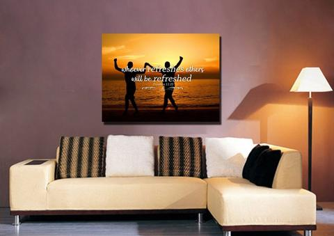 refresh each other christian canvas