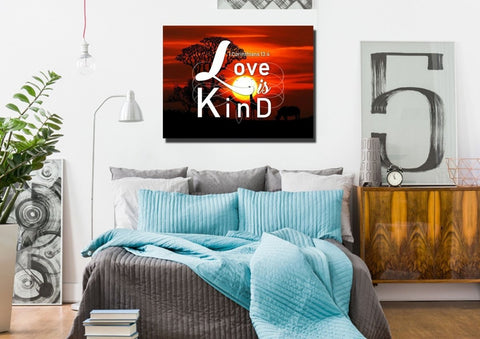 1 Corinthians 13:4 Canvas Wall Art Print