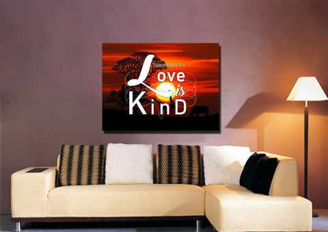 Image of 1 Corinthians 13:4 Canvas Wall Art Print