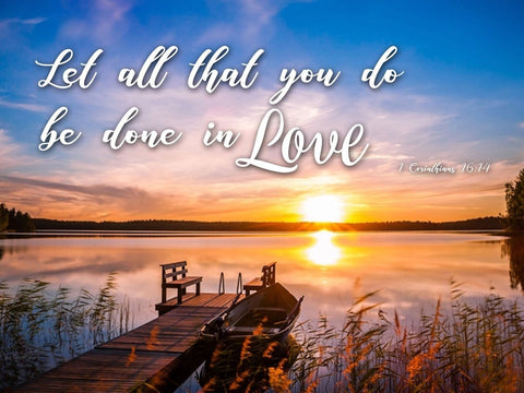 1 Corinthians 16:14 KJV #1 Let All You Do Be in Love Bible Verse Canvas Wall Art