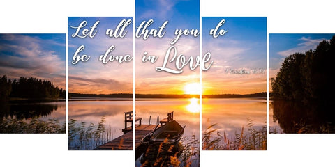 Image of 1 Corinthians 16:14 KJV #1 Let All You Do Be in Love Bible Verse Canvas Wall Art