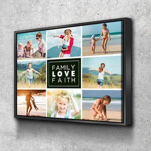 #1 Family Love Faith Canvas