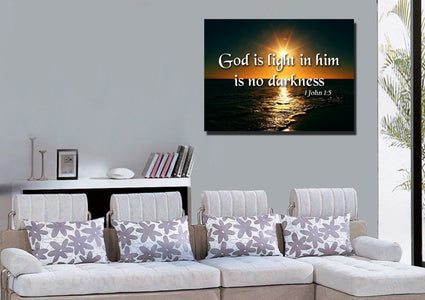 1 John 1:5 Canvas Wall Art Print