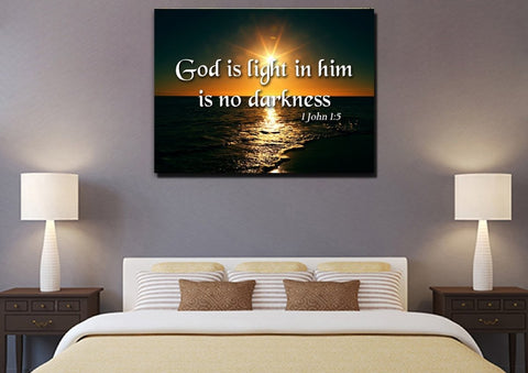 Image of 1 John 1:5 Canvas Wall Art Print
