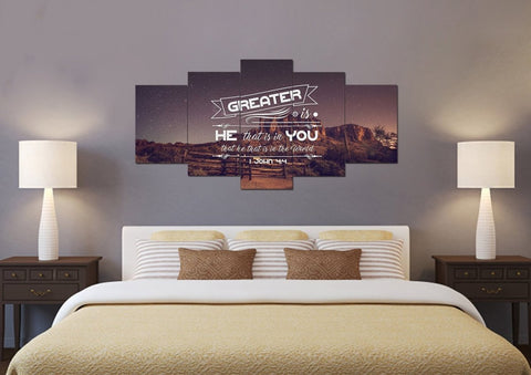 1 John 4:4 Canvas Wall Art Print
