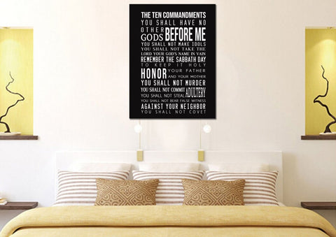 Image of 10 Commandments in Black & White #9 Wall Art