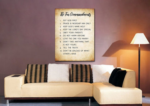 10 Commandments on Parched Paper #5 Wall Art
