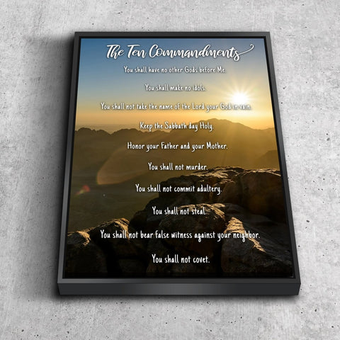 #10 Sunset Sunrise at Mount Sinai & 10 Commandments Wall Art