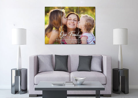 Image of #11 Family Joined in Love Canvas Art