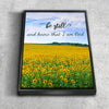 Image of Be Still & Know That I am God #2 Bible Verse Canvas Print