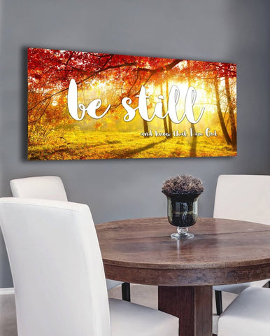 Image of #13 Red Autumn & Be Still and Know I am God Wall Art Sign