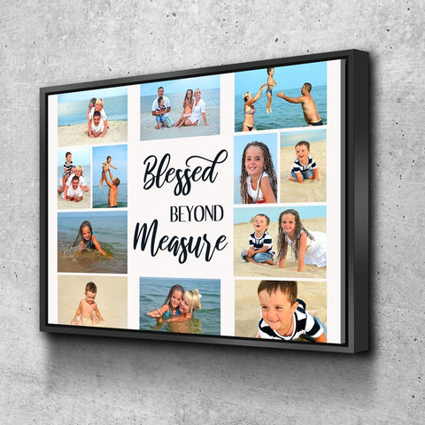 #14 Blessed Beyond Measure Personalized Family Canvas