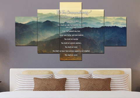 Image of #15 Mount Sinai Mornings & 10 Commandments Wall Art