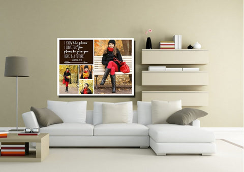 #17 Jeremiah 29:11 Plans for You Personalized Canvas