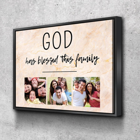 Image of #18 GOD has blessed this Family Personalized Canvas