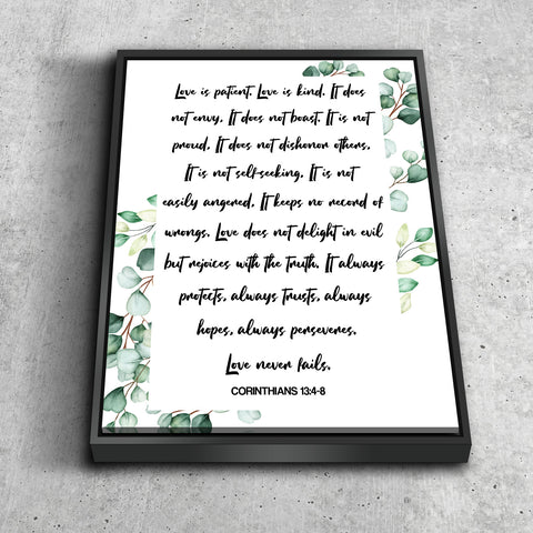 Image of #6 Baby Flowers & Love is Patient, Love is Kind Canvas Print