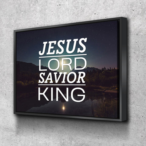 Jesus Lord Savior King Wall Art Canvas Print