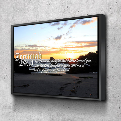 Jeremiah 29:11 KJV #10 Bible Verse Canvas Wall Art