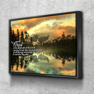 Floating Frame 1 Panel Proverbs 3:5-6 #32 KJV canvas