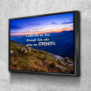 Philippians 4:13 NIV #3 Bible Verse Canvas Wall Art