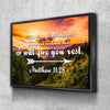 Image of Floating Frame 1 Panel Proverbs 3:5-6 #20  KJV canvas