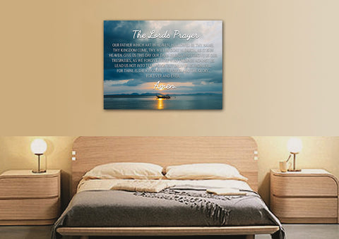 Image of Lone Ship #1 & The Lords Prayer Wall Art