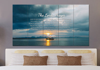 Lone Ship #1 & The Lords Prayer Wall Art