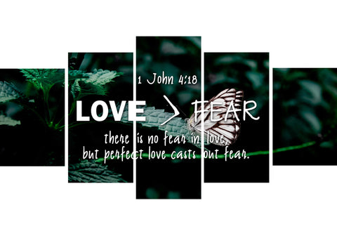 Image of 1 John 4:18 No Fear in Love Canvas Wall Art Print - Christian Walls