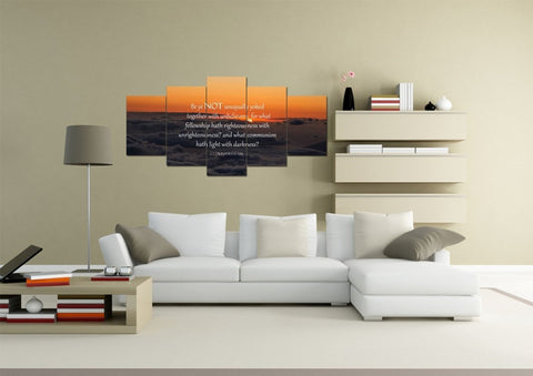 2 Corinthians 6:14 NIV Wall Art Canvas Print
