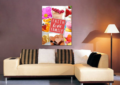#2 Faith Love Family Canvas