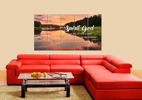 Image of 2 Timothy 1:7 NIV God Gave Us Power & Love Bible Verse Canvas Wall Art