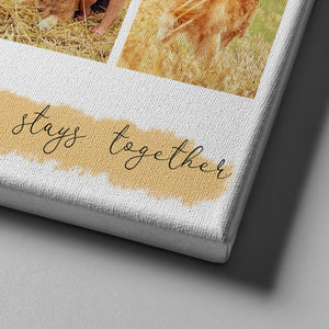 #3 Family that Prays together Stays together Custom Canvas