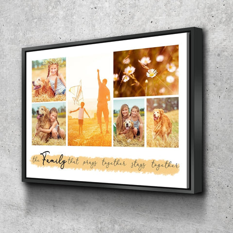 Image of #3 Family that Prays together Stays together Custom Canvas