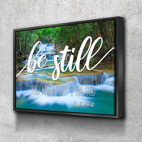 Image of #3 Mini Waterfalls & Be Still Canvas