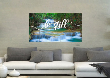 #3 Mini Waterfalls & Be Still Canvas