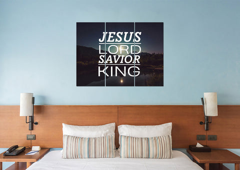 Jesus Lord Savior King  Christian Quotes Wall Art Canvas