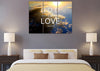 Image of 1 John 4:16 God is Love Bible Verse Wall Art Canvas