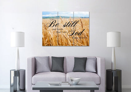#4 Wheat Fields & Be Still Canvas