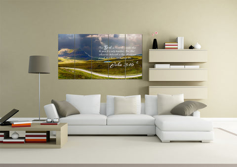 Image of John 3:16 KJV #9 Bible Verse Canvas Wall Art