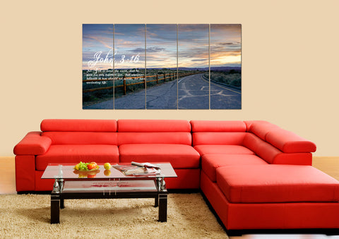 John 3:16 KJV #15 Bible Verse Canvas Wall Art