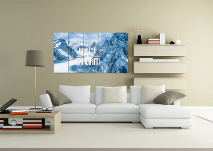 I will Praise you in the Storm Wall Art Canvas Print