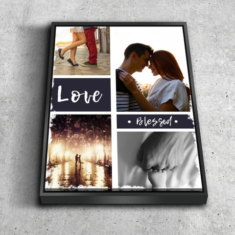 Image of #6 Love & Blessed Canvas