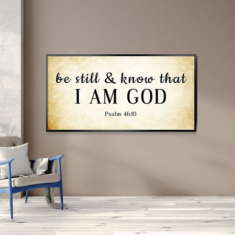 #6 Tan Rustic & Be Still and Know I am God Wall Art Sign