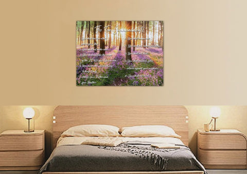 #8 Calm Morning Sunrise & 10 Commandments Wall Art