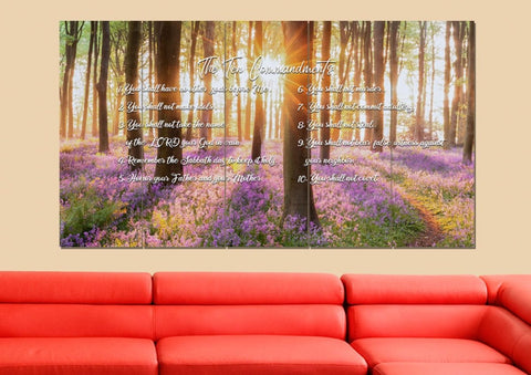 Image of #8 Calm Morning Sunrise & 10 Commandments Wall Art