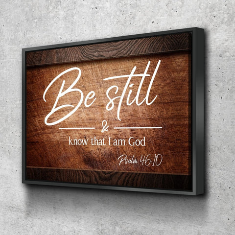 Image of #8 On Crate & Be Still Wall Art Canvas