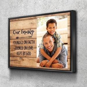 #9 Our Family Founded on Faith Personalized Canvas Art
