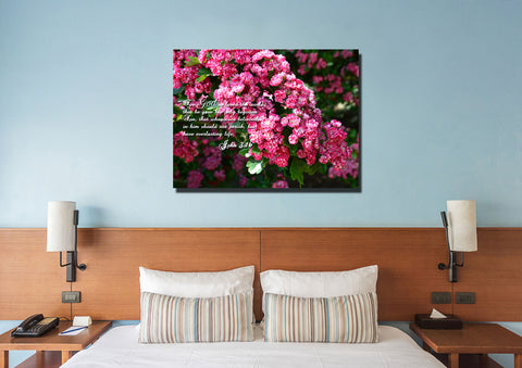 John 3:16 KJV #23 Bible Verse Canvas Wall Art