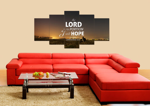 Lamentations 3:24 Canvas Wall Art Print